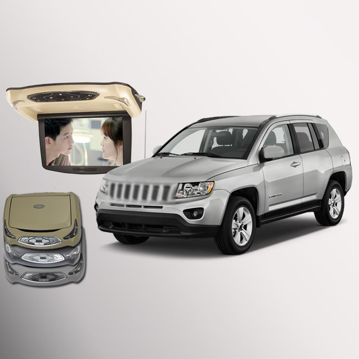 ==> [Free Shipping] Buy Best BigBigRoad For Jeep Compass Car Roof Mounted in car LED Digital Screen Support HDMI USB FM TV Game IR Remote Flip Down DVD Online with LOWEST Price   32779100662