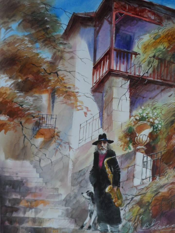 Victor Zelik Ukrainian watercolor artist