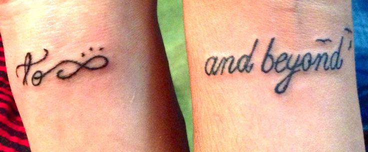 Matching Wrist Tattoos For Mom & Daughter/ Aunt & Niece/ Cousins/ Best Friends! This me & my aunt :)