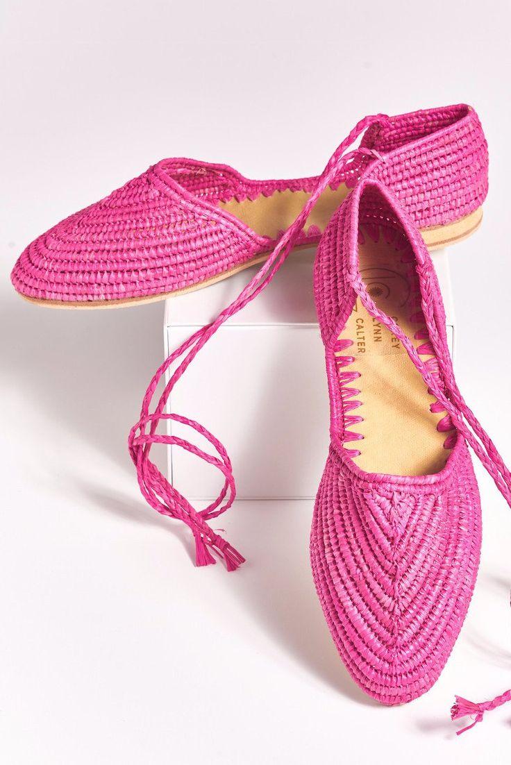 PATTY Hand Made Raffia Wrap Shoes