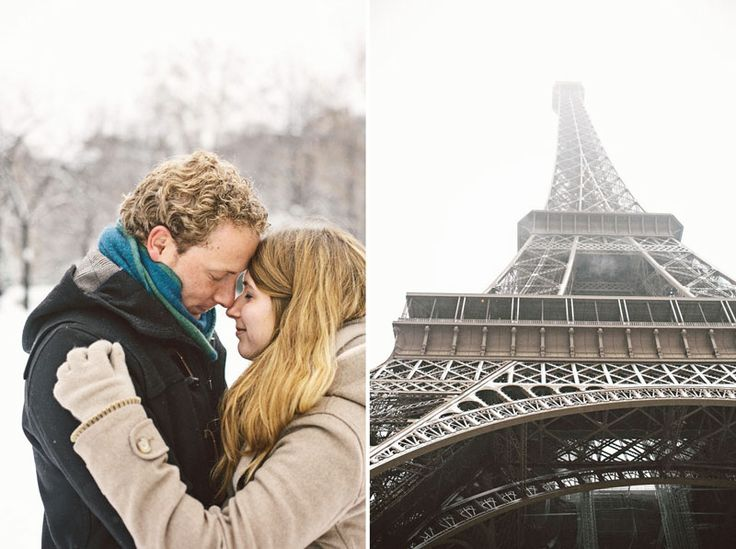 Preboda en la nieve - preboda en paris - engagement in snow - paris engagement - sara lazaro