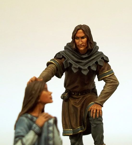 George R.R. Martin Miniature Line - DSM5504 - Jon Snow and Arya Stark Diorama - 54mm