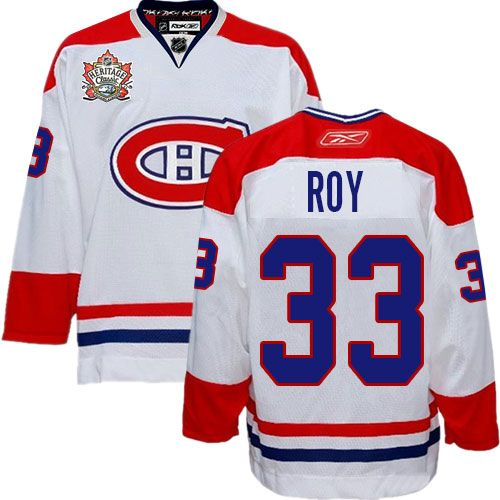 Patrick Roy Jersey-Buy 100% official Reebok Patrick Roy Men's Premier Heritage Classic White Jersey NHL Montreal Canadiens #33 Free Shipping.