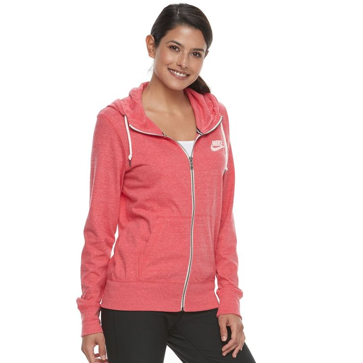 Women's Nike Gym Vintage Zip Up Hoodie, Size: Medium, Red Other