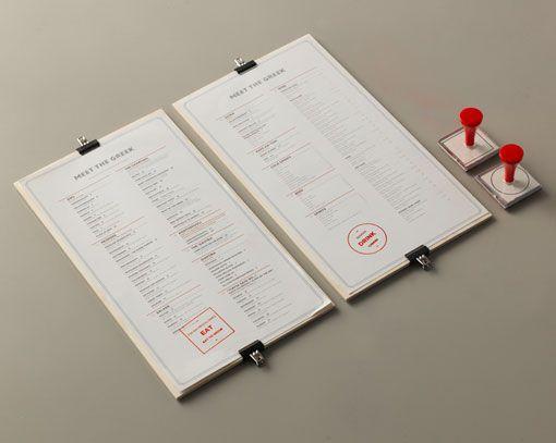 nice menu idea — clipped to wood