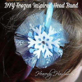 Heavenly Handmades: DIY Elsa from Frozen inspired head band
