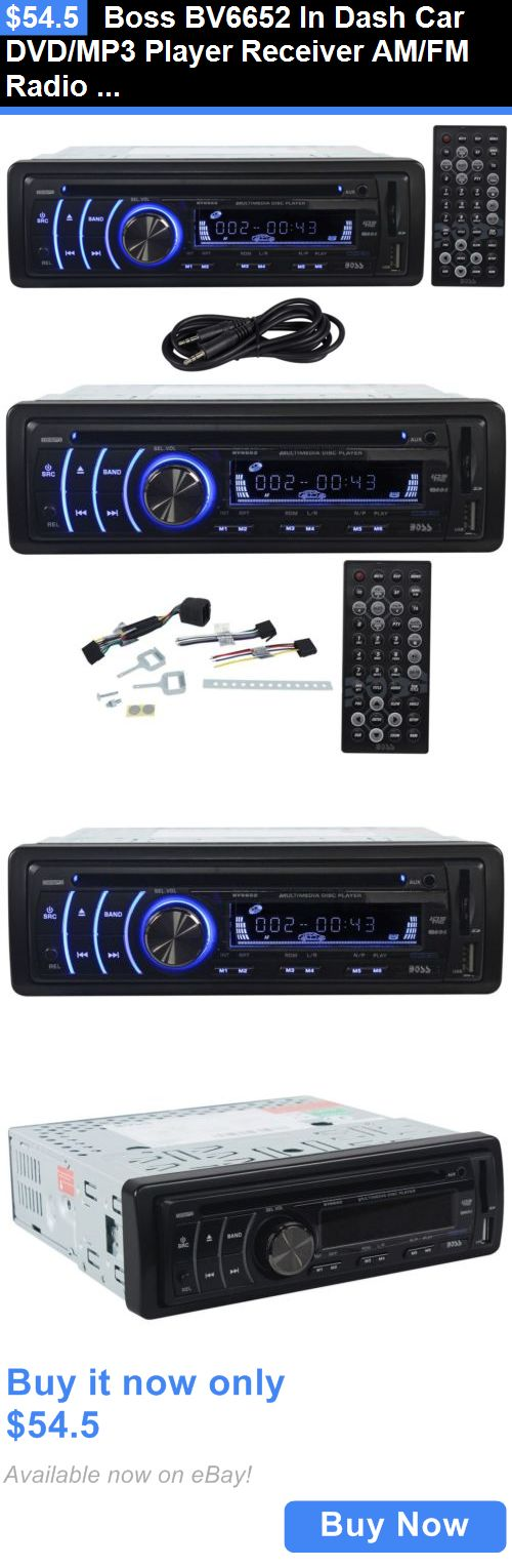 Vehicle Electronics And GPS: Boss Bv6652 In Dash Car Dvd/Mp3 Player Receiver Am/Fm Radio W/Usb/Sd+Aux Cable BUY IT NOW ONLY: $54.5