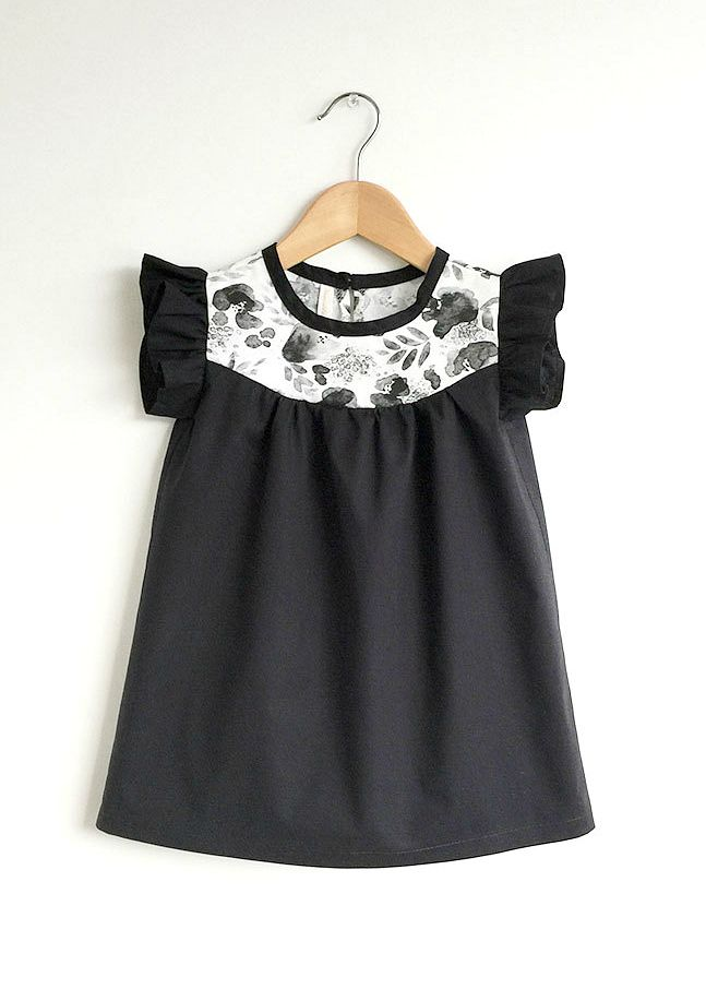 Handmade Cotton Dress With Floral Detail | SwallowsReturn on Etsy