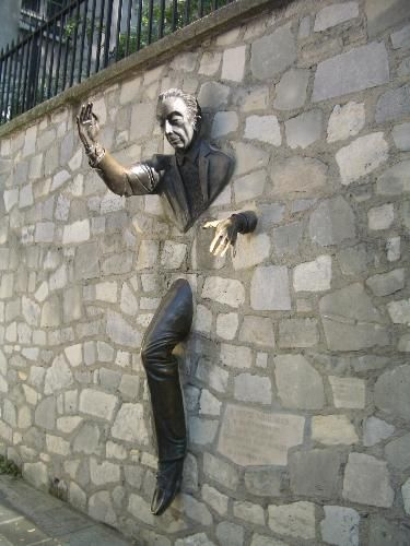 Wall sculpture, Paris, France (near Montamarte)