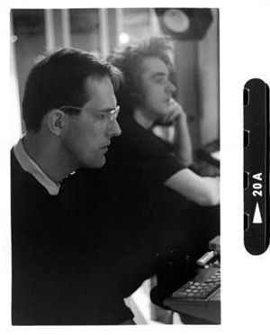 Bill and Jimmy in the studio working on The White Room