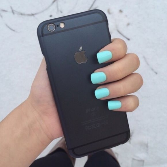 matte black iPhone 6/6s case used for like two days. super thin case with gold Apple symbol. Accessories Phone Cases