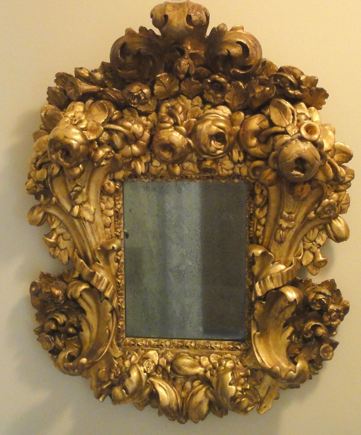 18th century mirror via Antique Style. Mirror, Mirror, on the wall. Who has the most fabulous Rococo frame of all?!