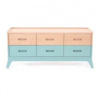 Nobodinoz 6 Drawer Chest Of Drawers   Sea Green `One Size The Sliding  Drawers · Non Toxic Paint6 ...
