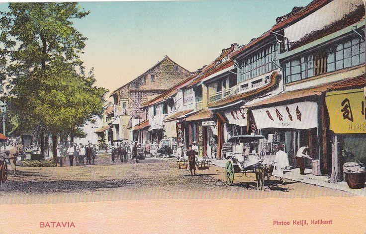 https://flic.kr/p/b5gWdZ | Tempo Doeloe #75 - Jakarta - Glodok, Pintu Kecil, 1908 | scan of an old postcard  (best viewed in large)