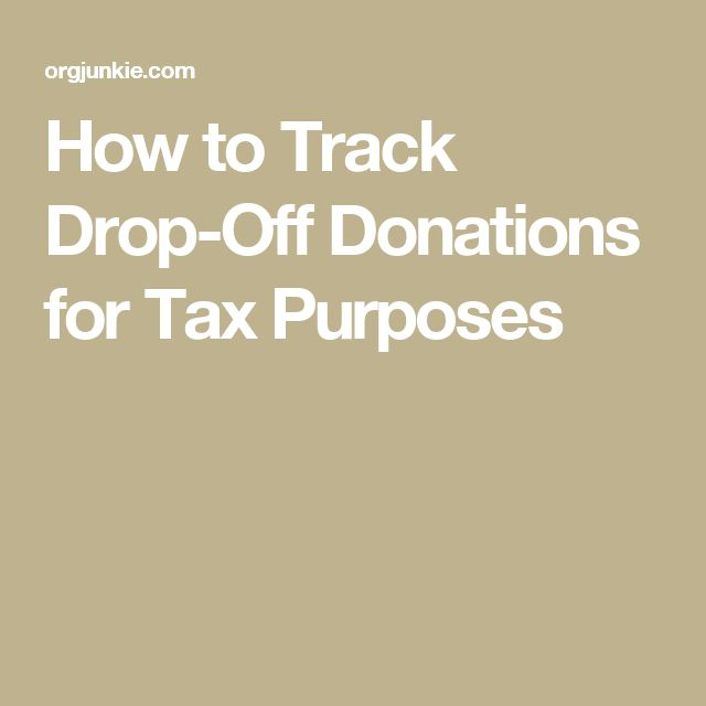 tracking donations for taxes