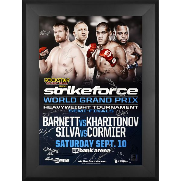 "Fanatics Authentic Strikeforce Challengers Barnett vs. Kharitonov Framed Autographed 27"" x 39"" 20-Signature Event Poster - $299.99"