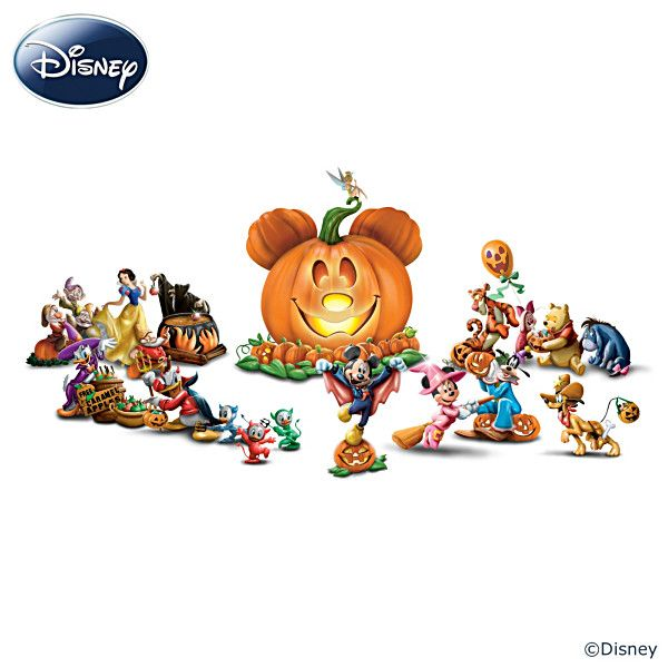 disney halloween pumpkin sculpture collection