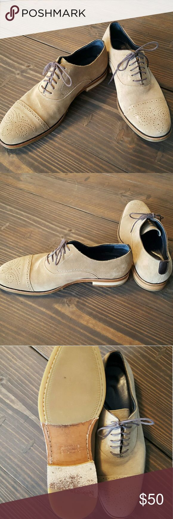 Johnston & Murphy Suede Shoes These lightly worn Johnston & Murphy suede shoes are a stylish addition to any wardrobe! *Note, there is a slight color tone difference between the two shoes. Johnston Murphy Shoes Oxfords & Derbys