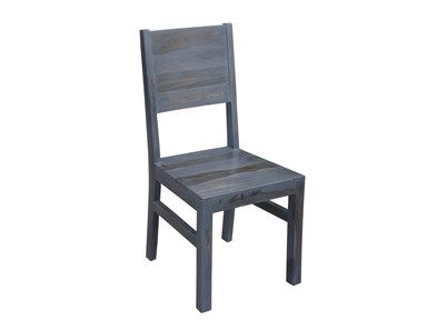 Global Imports G02255A, at Exotic Home Smoke Finish Dining Chair.