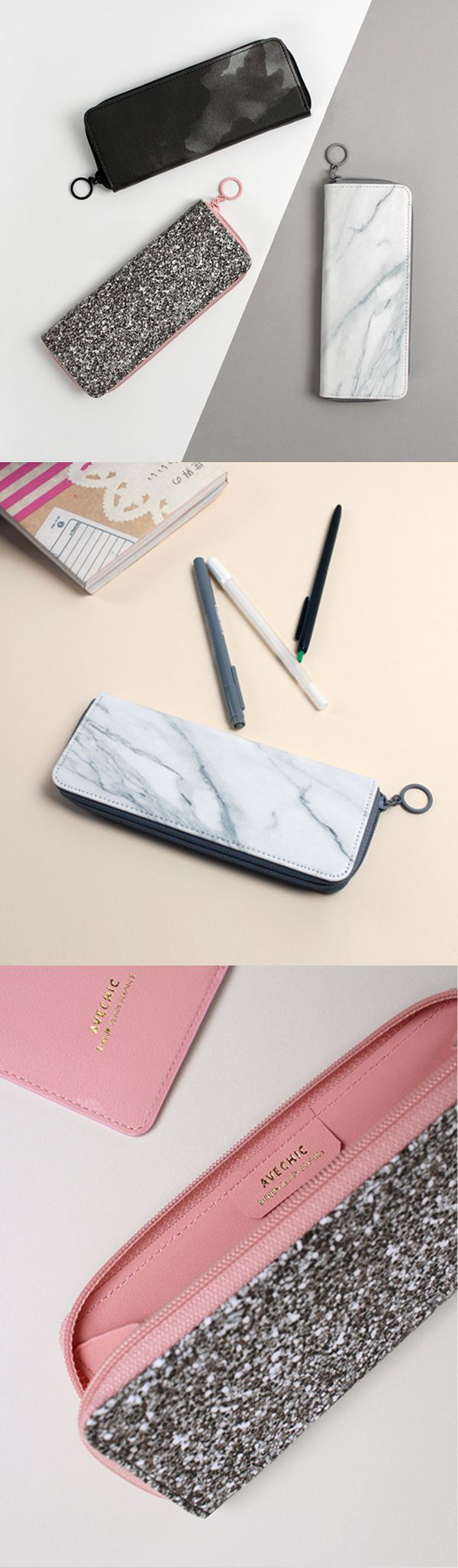 Definitely the classiest pen case around! Ink, Glitter, Marble...which will you choose? ^.~*