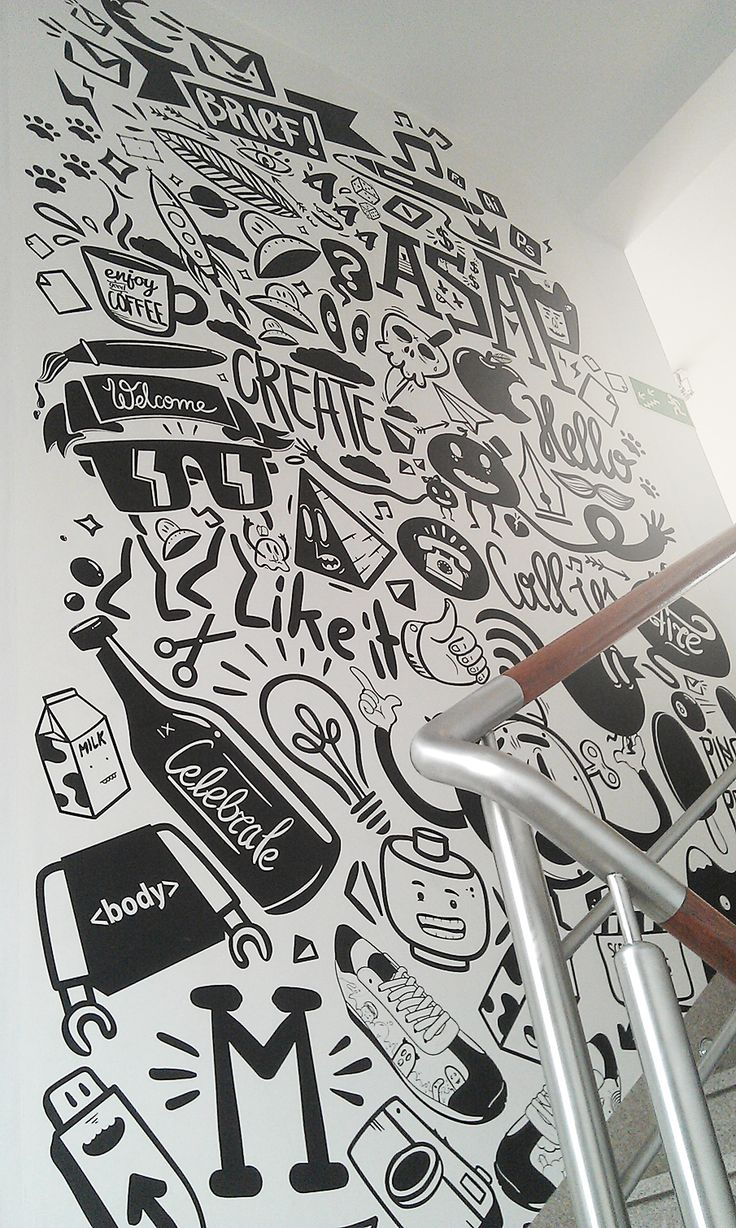 agency life mural peterjaycob - Wall Graphic Designs