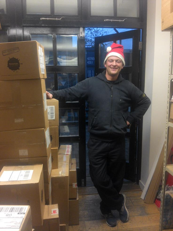 Tony the teapigs courier driver says - there's still time to order for christmas! Select courier delivery until 22nd!