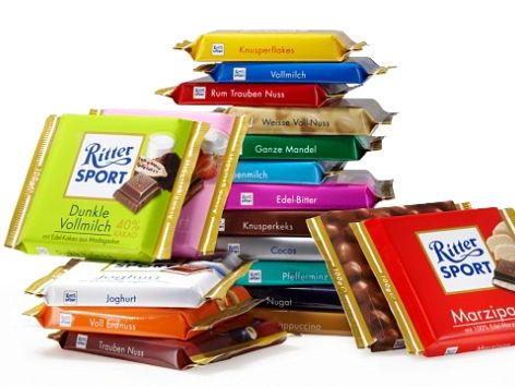 love those colorful and #tasty squares. #ritter <3