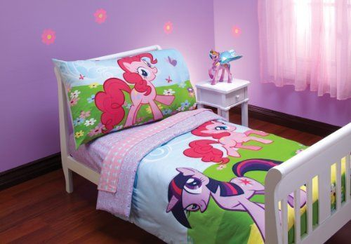 Hasbro My Little Pony 4 Piece Toddler Bedding Set by Hasbro, http://www.amazon.com/dp/B006C4JEPK/ref=cm_sw_r_pi_dp_Becerb06JA957