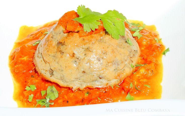 Gâteau Salé d'Aubergines à l'indienne (Coco, Curry) et son Chutney de Tomates