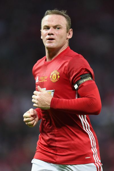 Wayne Rooney of Manchester United looks on during the Wayne Rooney Testimonial match between Manchester United and Everton at Old…
