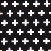 black Robert Kaufman cross plus fabric Remix - Dots, Stripes, Checker - Fabric
