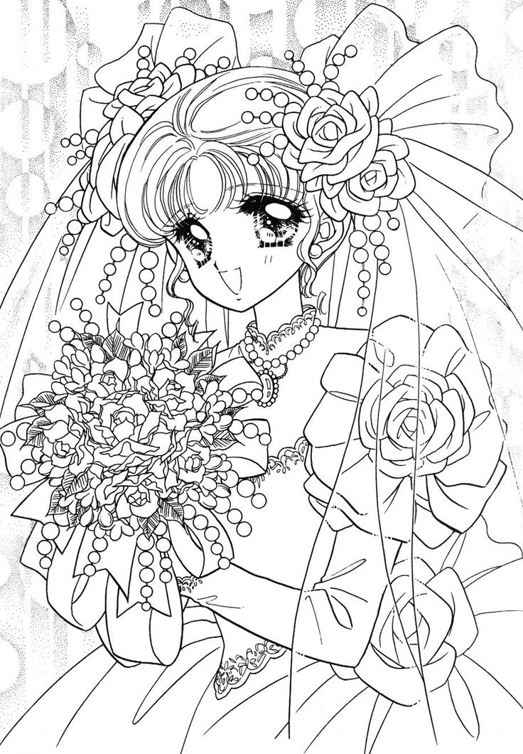 89 best Japanese Anime Coloring Page ぬり絵 images on ...