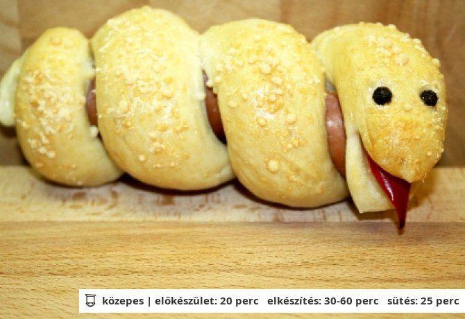 Hotdog kígyócska | NOSALTY – receptek képekkel