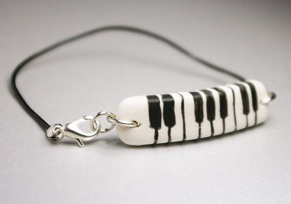 Piano, Cold Porcelain Bracelet,
