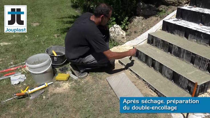 Escalier exterieur SANS coffrage ni béton Modulesca - YouTube