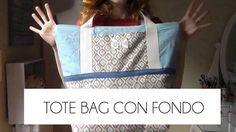 Cómo hacer un tote bag con fondo. ¡Patrones gratis!