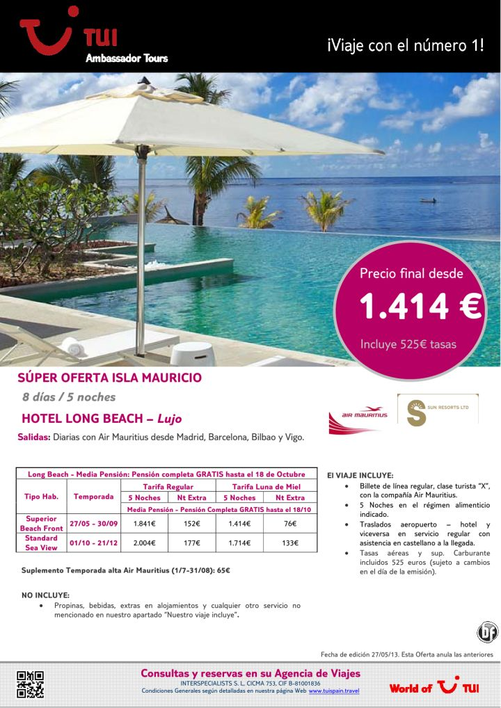Oferta Isla Mauricio estancia hotel Long Beach - Lujo. Precio final desde 1.414€ - http://zocotours.com/oferta-isla-mauricio-estancia-hotel-long-beach-lujo-precio-final-desde-1-414e/