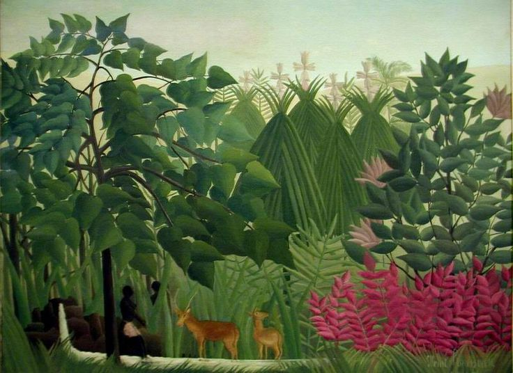 Henri Rousseau has an amazing ability to paint leaves and nature