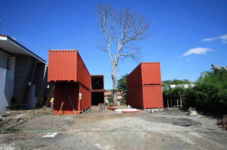 Proceso constructivo de casa contenedor