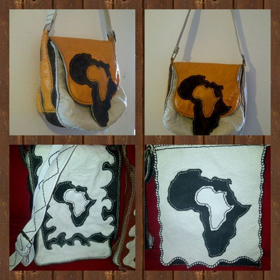 100% Handstitched Genuine Leather shoulder bags with 2 inside zipped pockets and a magnetic clip flap with or without the map of africa.