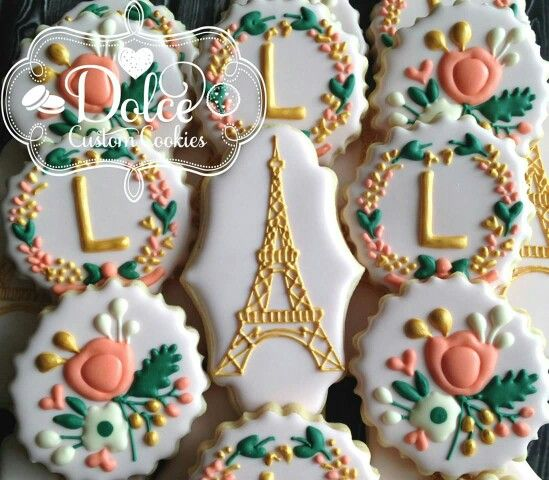 Floral Parisian Cookies