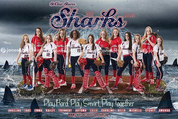 Softball_team_poster_banner_pictures_poses_Batbusters_Jones Photography_Cindi Jones_Sharks 11u 2017