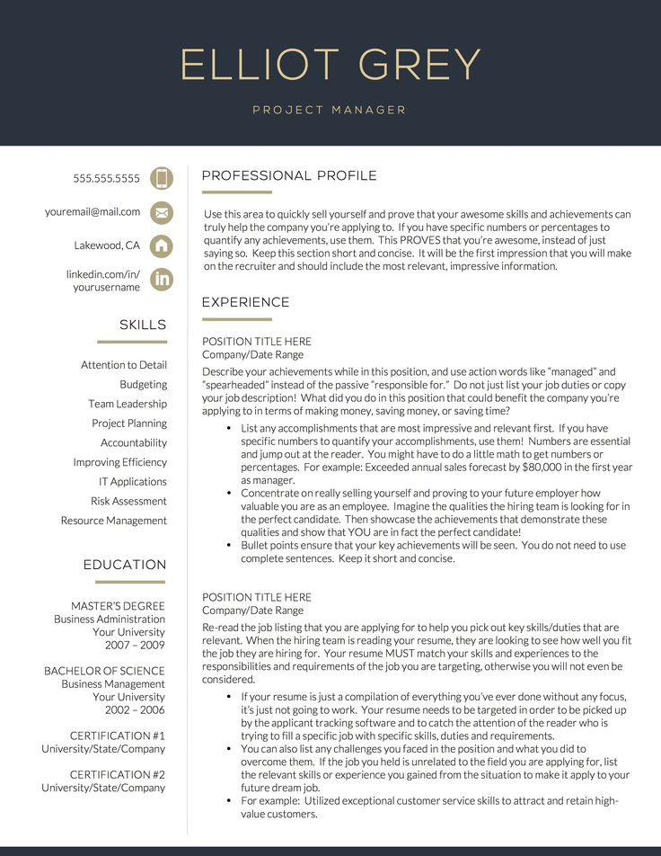 Modern Resume Template Tech Resume Template for Word and