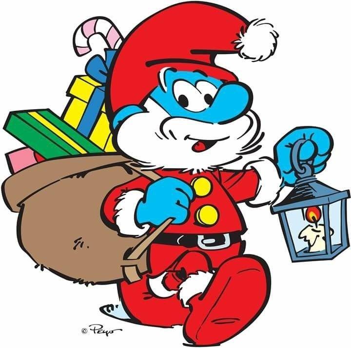 Coloriage Schtroumpf En Père Noel en 2020 | Coloriage schtroumpf