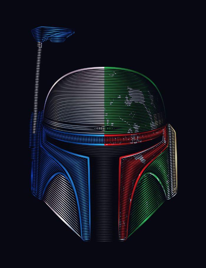 Star . Wars - Jango Fett & Boba Fett Art Print by Nathan Owens
