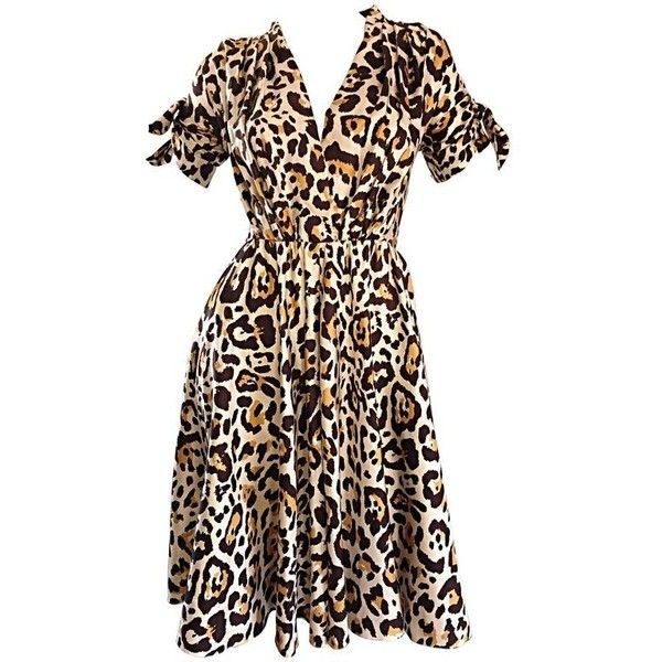 Preowned John Galliano For Christian Dior Leopard Cheetah Print 1940s... (€1.530) ❤ liked on Polyvore featuring dresses, beige, cocktail dresses, evening cocktail dresses, beige cocktail dress, silk dress, animal print cocktail dress and evening dresses