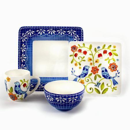Laurie Gates Petra 16 Piece Dinnerware Set - Walmart.com - $54.85