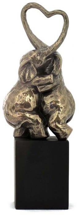 Cuddling Elephants Statue Shop Allsculptures Com For Many Elephant Home Decorating Ideas And Art