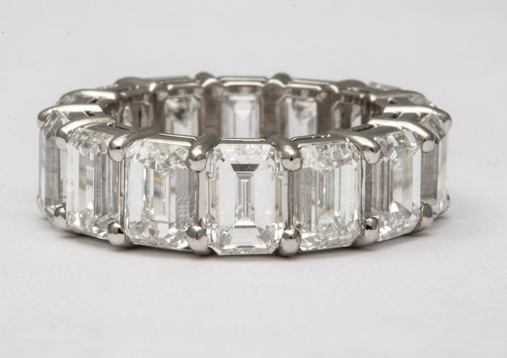 1stdibs.com | All GIA Certified Emerald Cut Wedding Band, Over 1 Carat Each