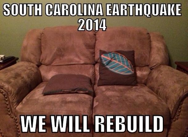 South Carolina earthquake #meme #south #carolina #earthquake #funny #humor #comedy #lol